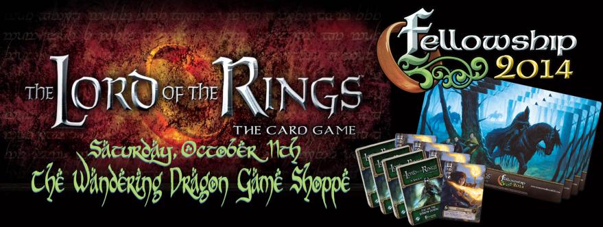 Wandering Dragon Game Shoppe Lord of the Rings Fellowship Event
