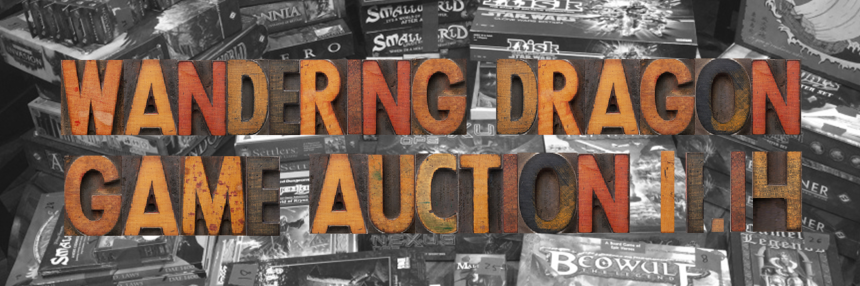Wandering Dragon Game Shoppe 2015 Fall Game Auction